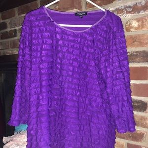 1X Deep Purple Notations women's blouse